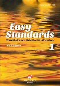 Akkordeon-Noten-Easy-Standards-1-m-2-Stimme-leicht-leichte-Mittelstufe