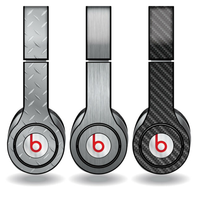Removable Vinyl Decal - Beats Solo HD Skins - Metal Textures - Set of 3