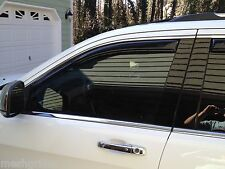 JEEP GRAND CHEROKEE IN CHANNEL VENT SHADES FITS 2011-2016 DARK SMOKE 4PC SET