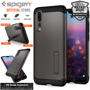 new concept 67d64 294a8 Details about Huawei P20 Pro Case, Genuine SPIGEN Slim Armor Heavy Duty  Soft Cover for Huawei