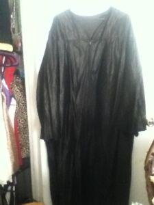 XL-54-034-Long-Black-School-Graduation-Gown-or-COSTUME-Zip-Front-Coat-Unisex