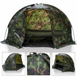 Carp Fishing Bivvy Day Tent Shelter 1 Man Fishing Camo Bivvy, Pegs DPM CAMO
