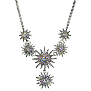 Kirks Folly Mystic Super Star Necklace (Antique Silvertone)