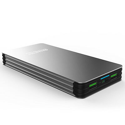 NINETEC 15000mAh Power Bank Externes USB Ladegerät Smartphone Zusatz-Akku NT615