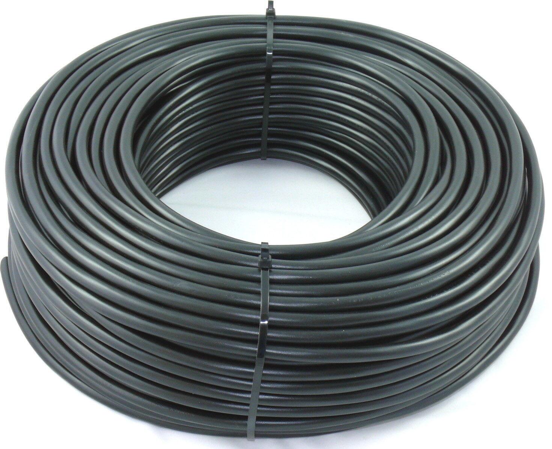 m PVC Schlauchleitung H05VV-F 3G2,5 3x2,5 Schwarz 35m