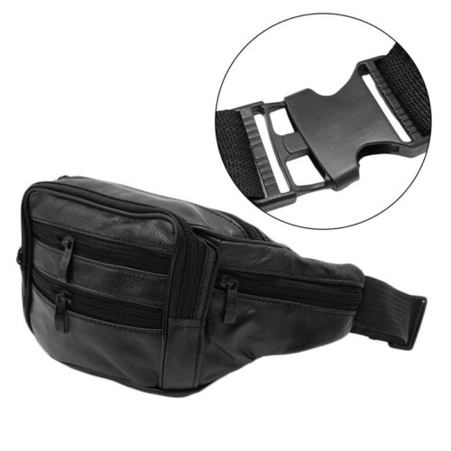 Men Leather Messenger Bag Waist Pack Pouch Hiking Motorcycle Father/'s Day Gift