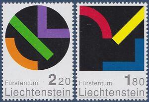 2001 Liechtenstein N°1222/1223 ** Peinture Tableau Honegger Painting Mnh Prix De Rue