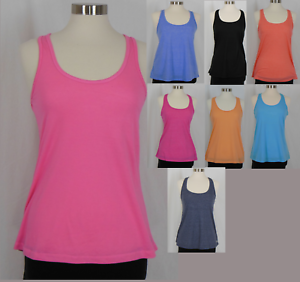New Active wear Women/'s Scrunched Back Tank Top Racerback Workout S M L XL