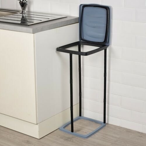 60L Collapsible Bin Bag Stand Plastic Garbage Waste Rubbish Refuse Sack Holder