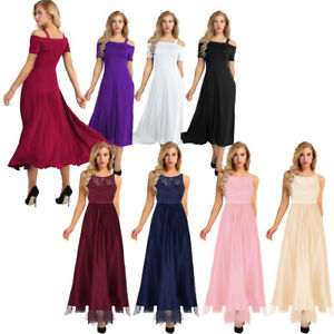 351322358a Image is loading Women-Formal-Wedding-Bridesmaid-Evening-Party-Ball-Prom-