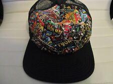 Marvel Comics Spike Studded Snap Back Trucker Hat Thor Iron Man Silver Surfer