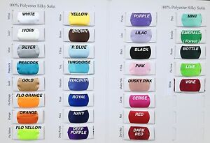 SILKY-SATIN-FABRIC-2-29-Per-Metre-Lowest-Price-on-Ebay-150cm-Wide-30-Colours