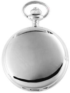 Excellanc-Taschenuhr-inkl-Kette-Clip-Weiss-Silber-Analog-Quarz-X4000020001