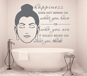 Image Is Loading Buddha Wall Sticker Happiness Decal Meditation Vinyl  Positivity
