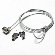 Secure PC Laptop Notebook Computer Security Lock Chain Solid Steel Cable Key