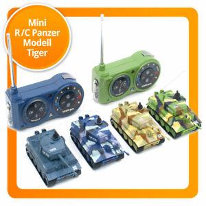 Ferngesteuerter Mini RC Panzer R/C Modellbau Tiger Schussfunktion, Sound & Licht