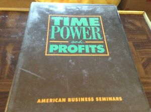 Time Power And Profits American Business Seminar 1988 Tape Set Ebay