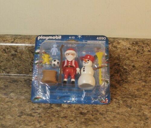 PLAYMOBIL Christmas Playset 4890 16 Pieces Santa Snowman Toys NEW