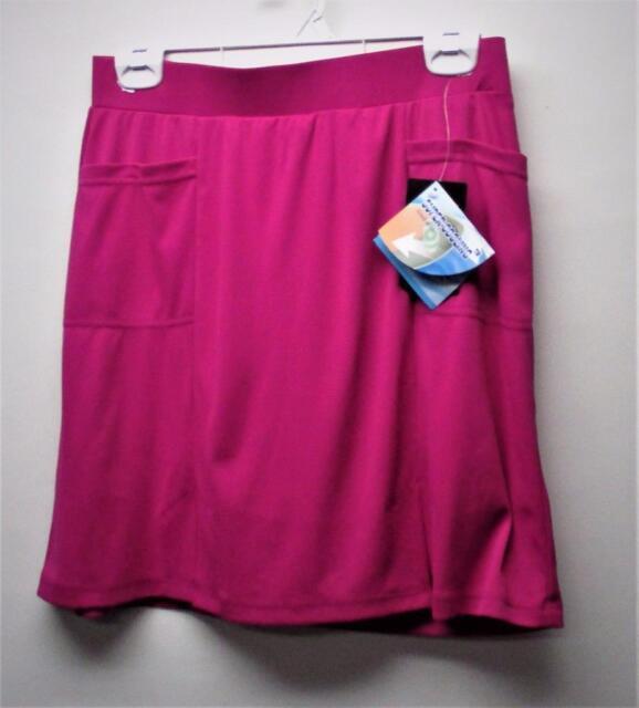 New Ladies Size US 4 Dexim Golfwear polyester slip on magenta golf skorts