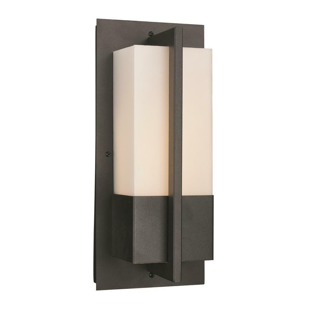 Iluminación de aire Bel 1 luz led integrado al Aire Libre Negro Lámpara De Parojo Linterna
