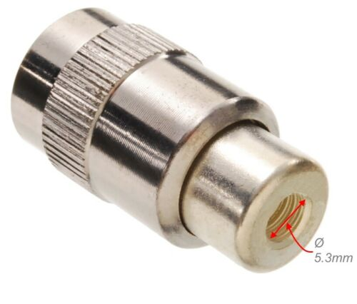 10Pack UHF PL-259 Male Solder Type RF Connectors for RG58 RG142 LMR195 Coax Wire
