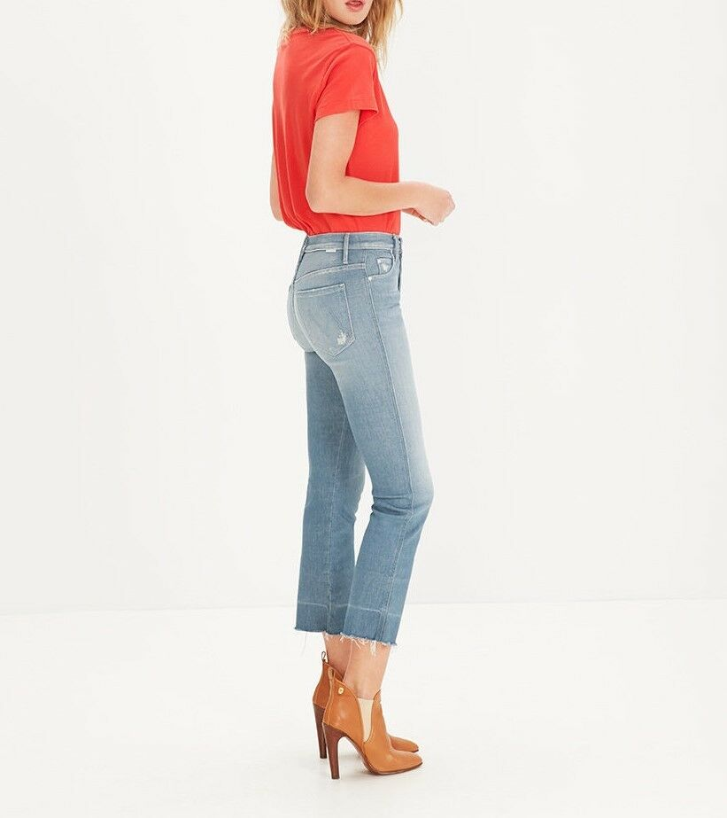 New with tags MOTHER denim jeans TOOTSIE undone hem cropped 30