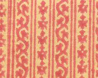 2½ Yards Hand Printed Cotton. New Block Print Artisan Fabric Red Tan Dessert Art