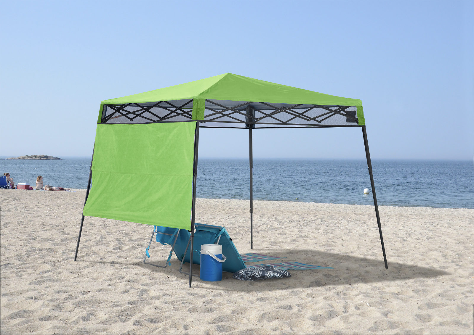 Shelter Logic Quik Shade Compact 6' X 6' Lime verde Backpack Canopy 157434