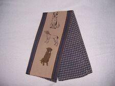 Sport Dog Waffle Weave Kitchen Towel, Blue, 100% Cotton w/Dog Screen Prints