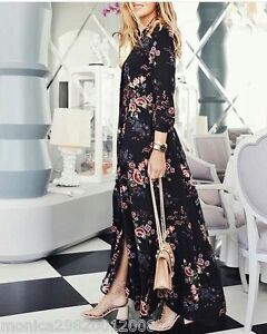 Zara floral dress long sleeve