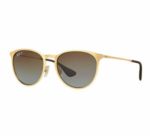 73a81f8a56 Ray-Ban Erika Metal Unisex Sunglasses with Polarized Brown Gradient ...