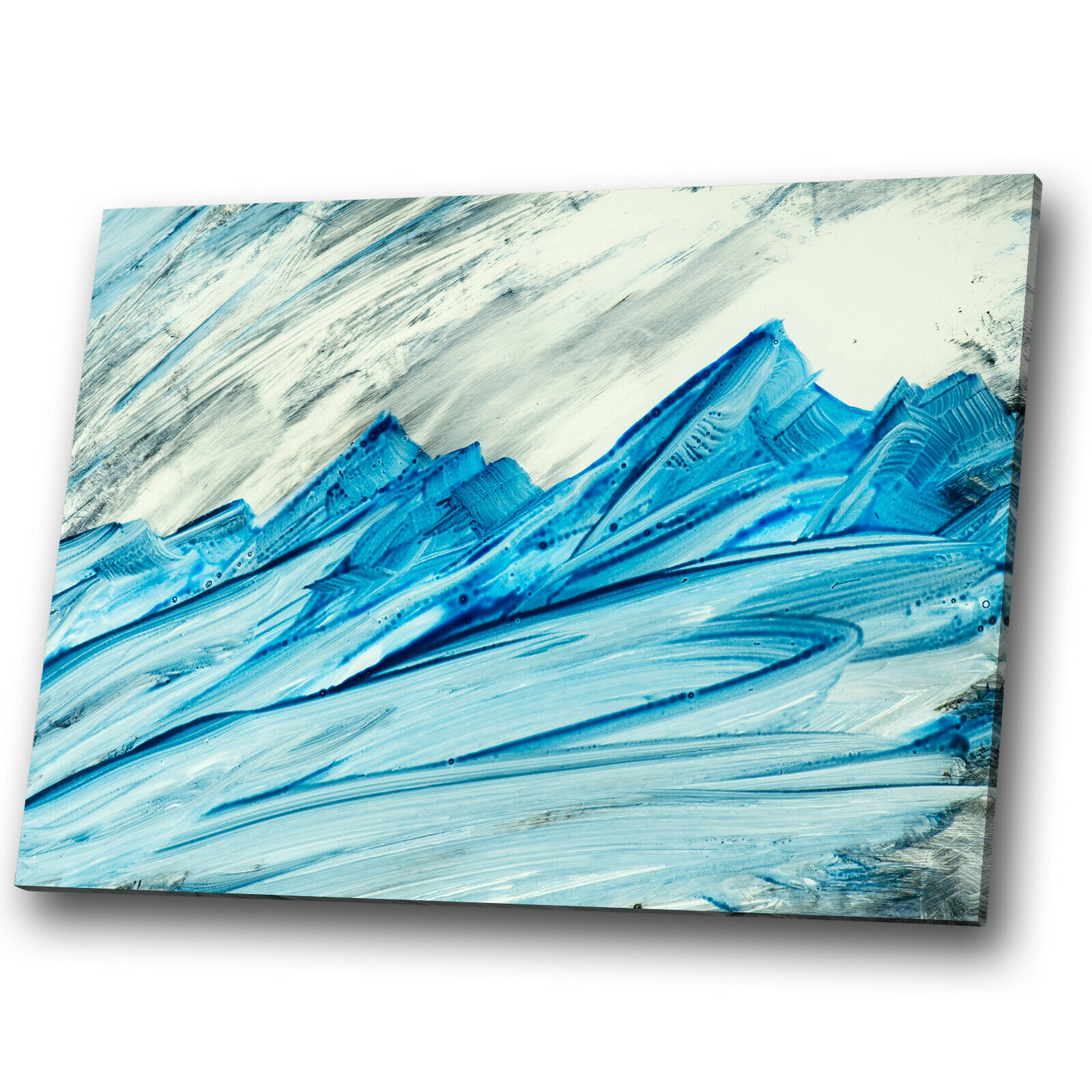 Blau Weiß grau Mountains Abstract Canvas Wall Art Large Picture Prints