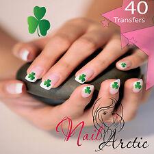 Irish Shamrock Clover Lucky Nail Art Sticker Water Decals Transfer Stickers