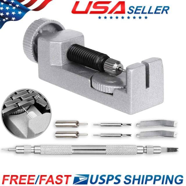 Metal Watch Band Bracelet Link Remover Repair Kit Spring Bar Adjuster Set  Pins
