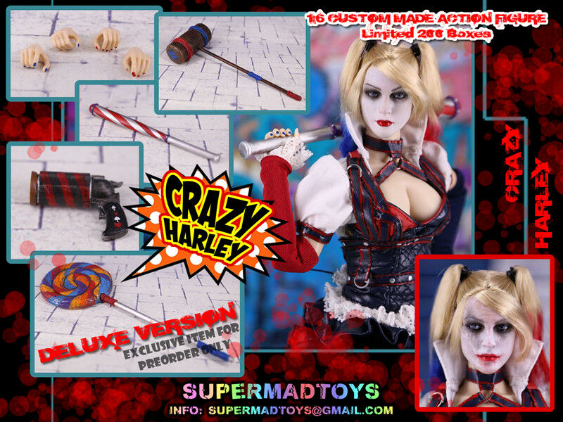 1/6 Supermad Toys DC Suicide Squad Crazy Harley Quinn Deluxe Ver 12
