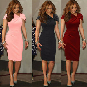Image Is Loading Wedding Reception Women 039 S Twist Bodycon Formal