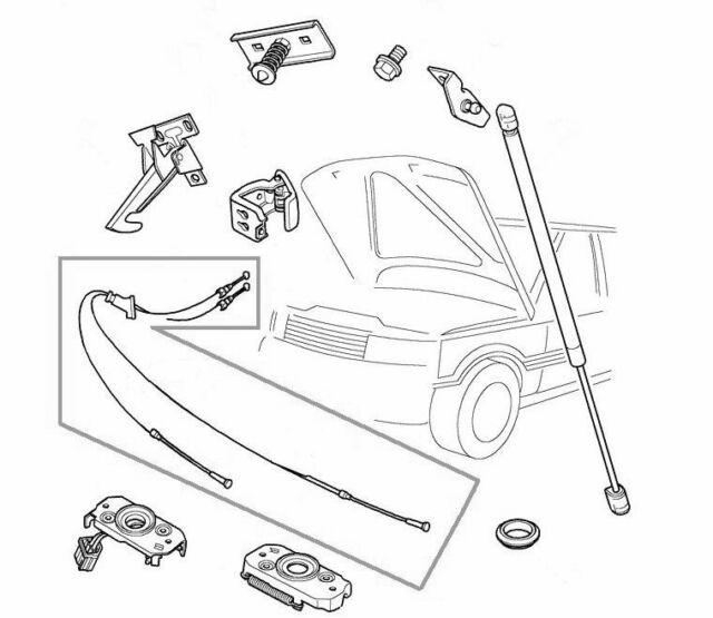 Land Rover Range P38 95 02 Bonnet Release Hood Cable Alr6989 For