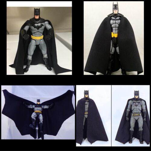 Custom Batman Dc Collectibles Noir Chiffon Cape Mattel Dc Multi-Univers Mafex Arkham