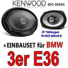 BMW 3er E36 - Kenwood 6x9 OVAL LAUTSPRECHER ABLAGE hinten BOXEN 400W - Einbauset