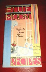Blue Moon Vintage Original Recipe Book Cheese Products of Minneapolis, MN