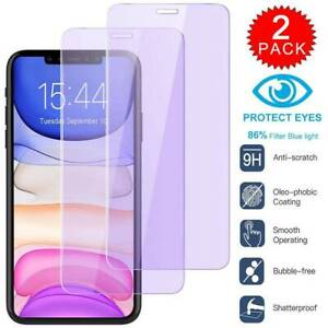 2-Pack-Anti-Blue-Ray-For-iPhone-Xs-Max-XR-7-Plus-Screen-Protector-Tempered-GLASS