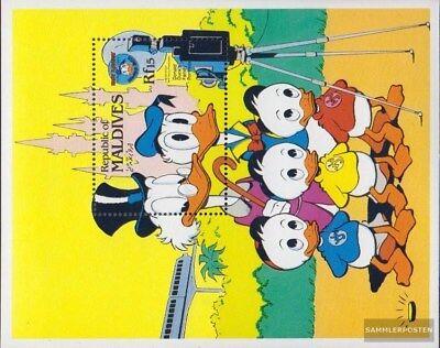 AnpassungsfäHig Malediven Block101 Postfrisch 1984 Donald Duck 100% Original kompl.ausg.