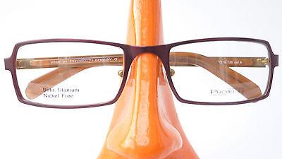 Occhiali Titanio Uomo Telaio Marrone Sottile Rettangolare Occhiali Marchi Versione Taglia M-mostra Il Titolo Originale