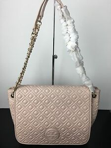 5661f4f2571 NWT TORY BURCH Marion Quilted Leather Flap Shoulder Bag Crossbody In ...
