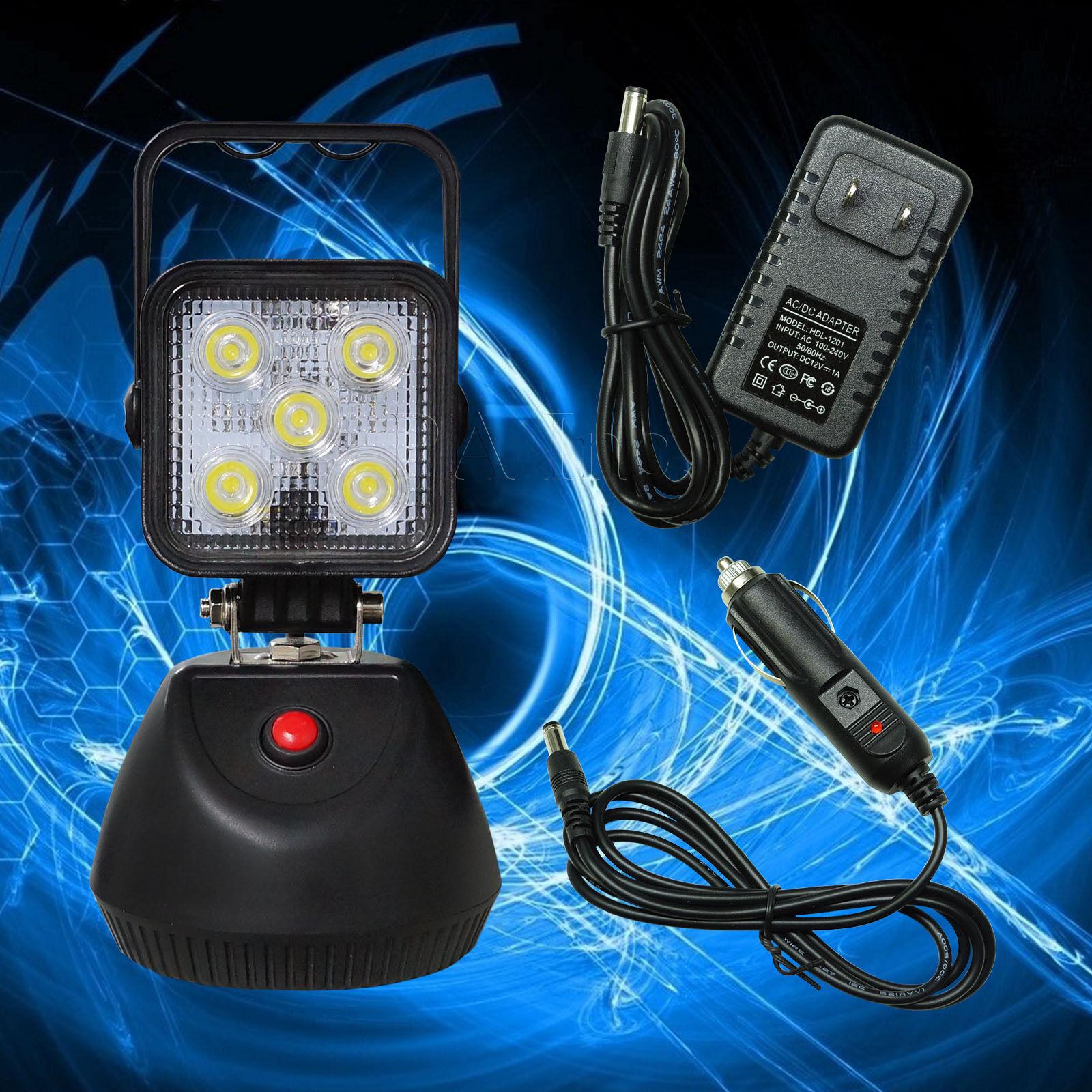 1 PCS Super Bright LED Work Light Portable Rechargeable Magnetic Base 15W Flood