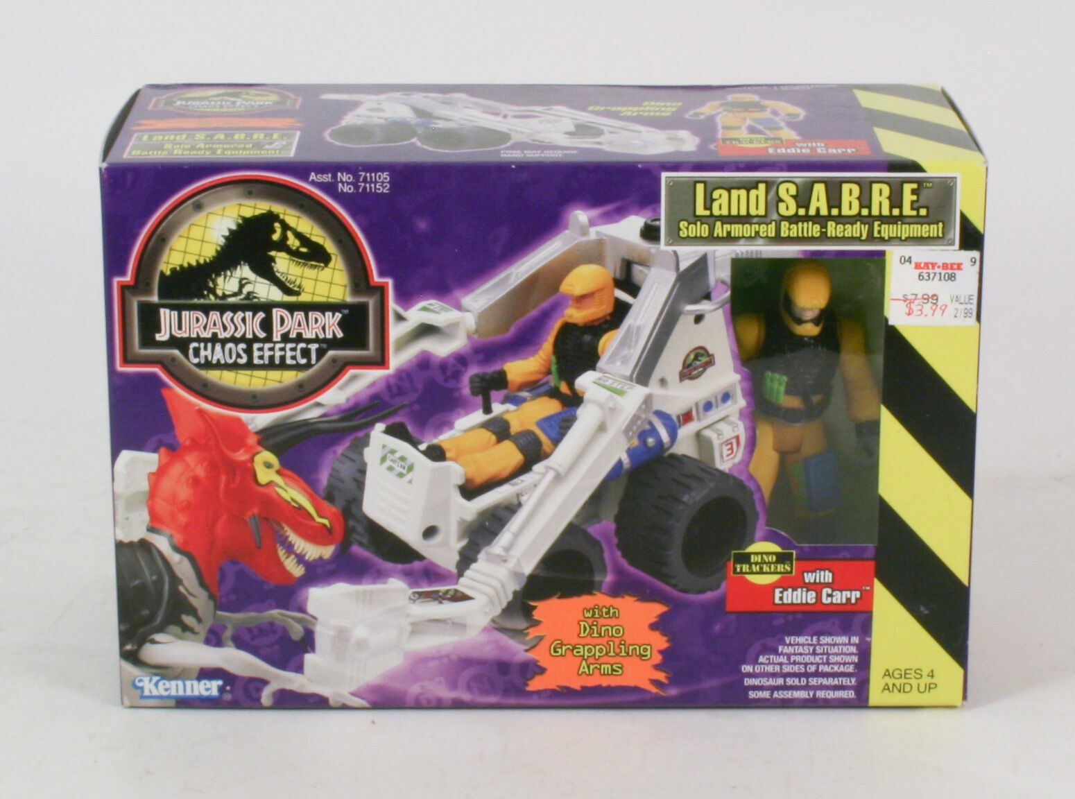 Jurassic Park  Chaos Effect Land S.A.B.R.E. With Eddie Carr Kenner