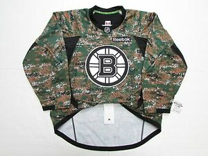 online retailer 3c1c7 adeb5 Details about BOSTON BRUINS AUTHENTIC MILITARY CAMO VETERANS DAY REEBOK  HOCKEY JERSEY