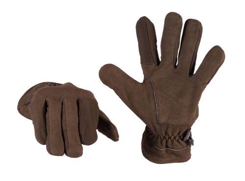 Caccia-outdoorhandschuhe Guanti Foderati con schießfinger M e XXL MARRONE