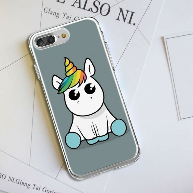 Pattern Soft Silicone TPU Clear Unicorn Case Cover For iPhone 8 7 6 Plus Huawei