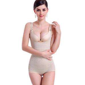 Damen Frauen Body Shaper Former Bauchweg Mieder Shapewear Bauch Schwarz XS~3XL